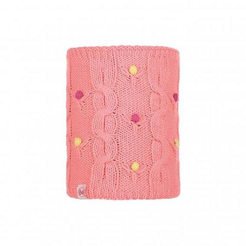 BUFF® JUNIOR KNITTED & POLAR NECKWARMER- Dysha Flamingo Pink