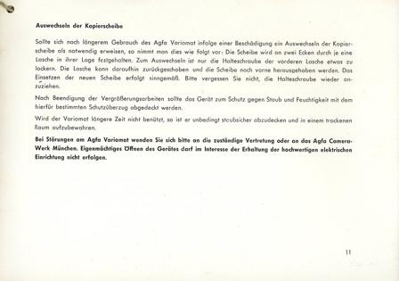 Agfa Beschreibung Variomat Seite 11