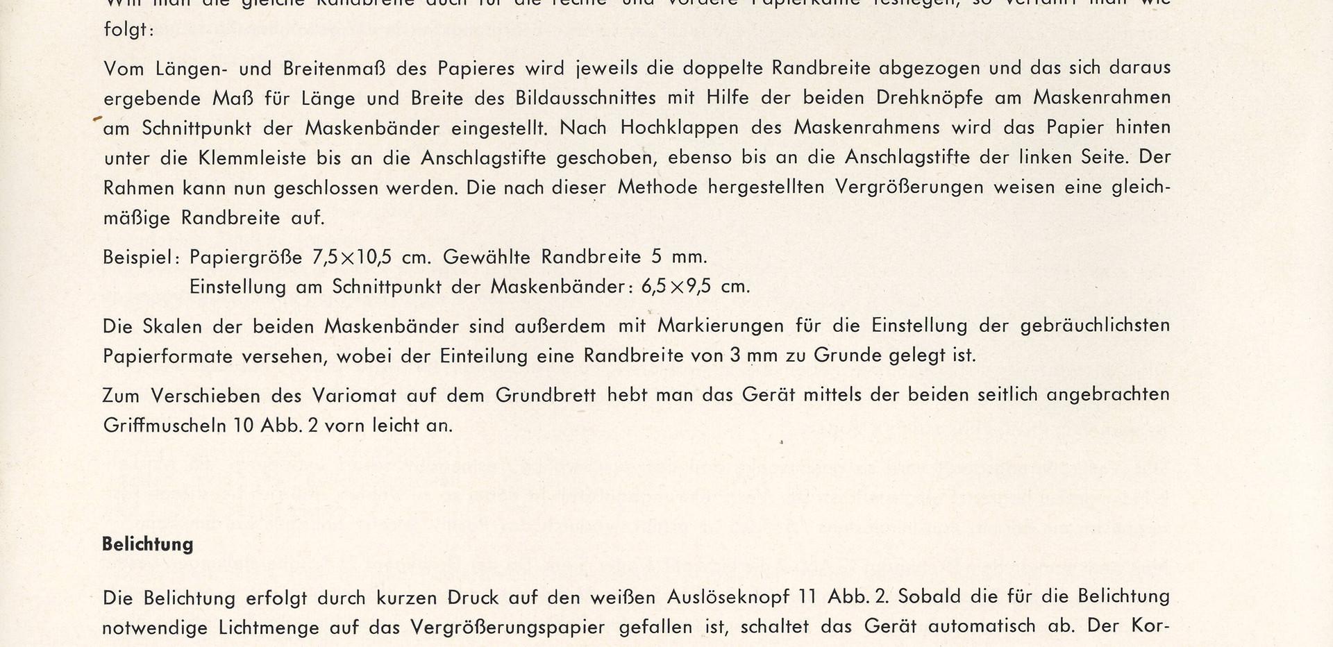 Agfa Beschreibung Variomat Seite 7