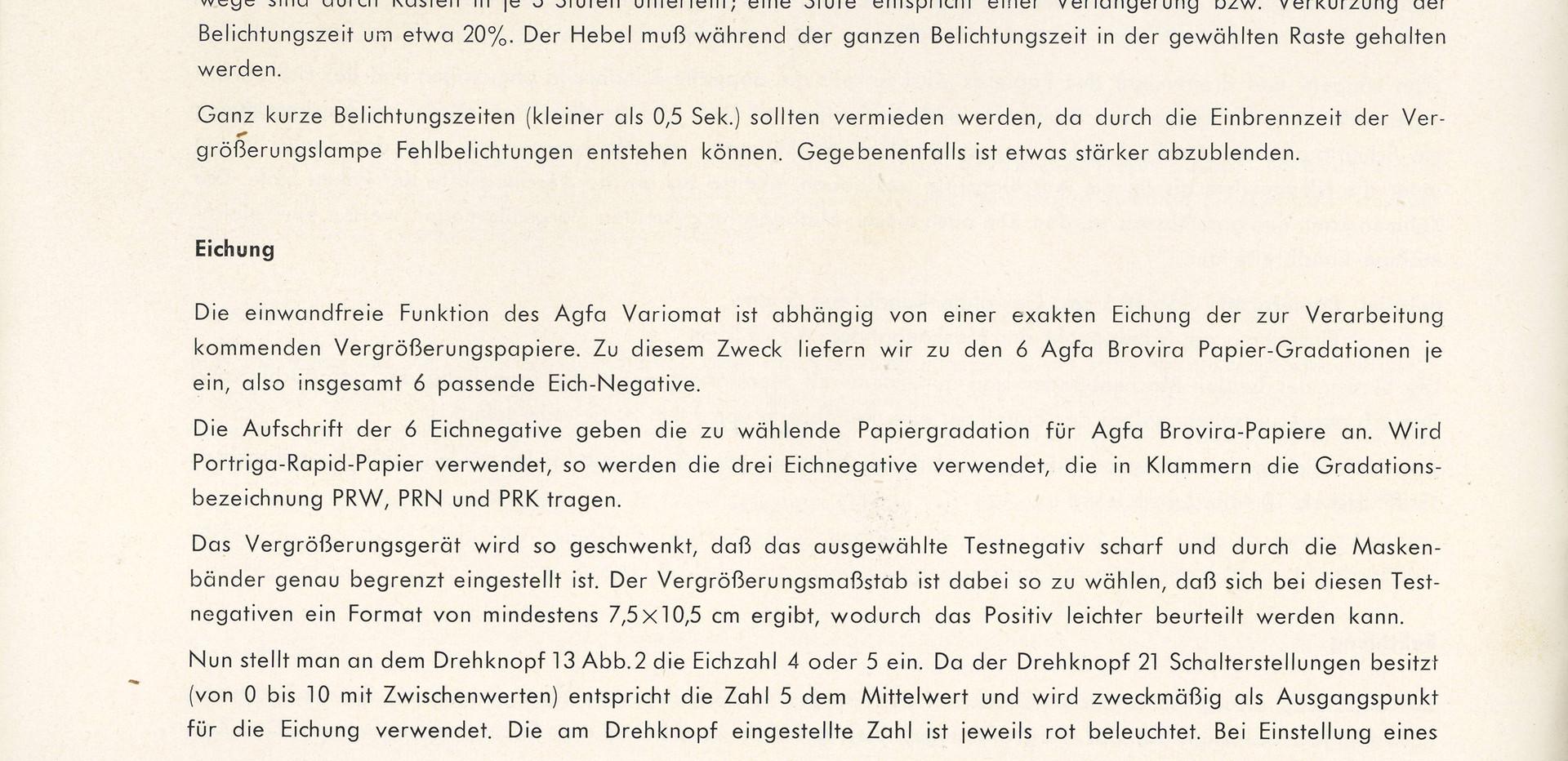 Agfa Beschreibung Variomat Seite 8
