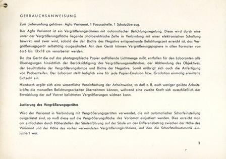 Agfa Beschreibung Variomat Seite 3