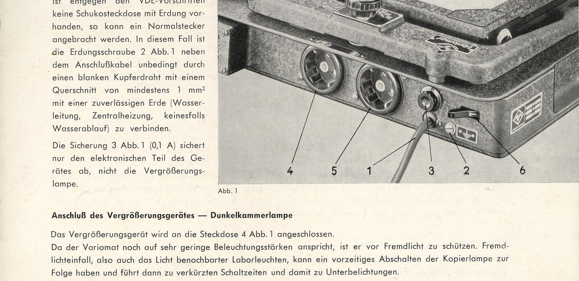 Agfa Beschreibung Variomat Seite 5