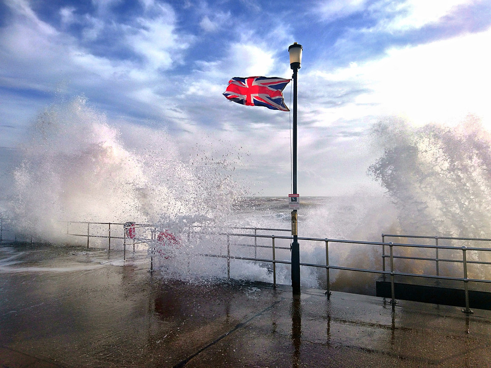 Storm Doris on Thursday at Teignmouth sea front