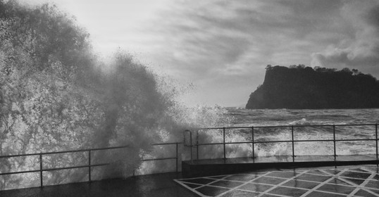 Storm Doris on Thursday at Teignmouth sea front