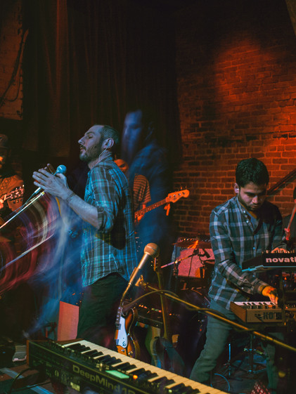 San Francisco indie band Dear Banshee live at the Golden Bull in Oakland, California. Live music scene in the Bay Area. Photographed with the SonyA7sii