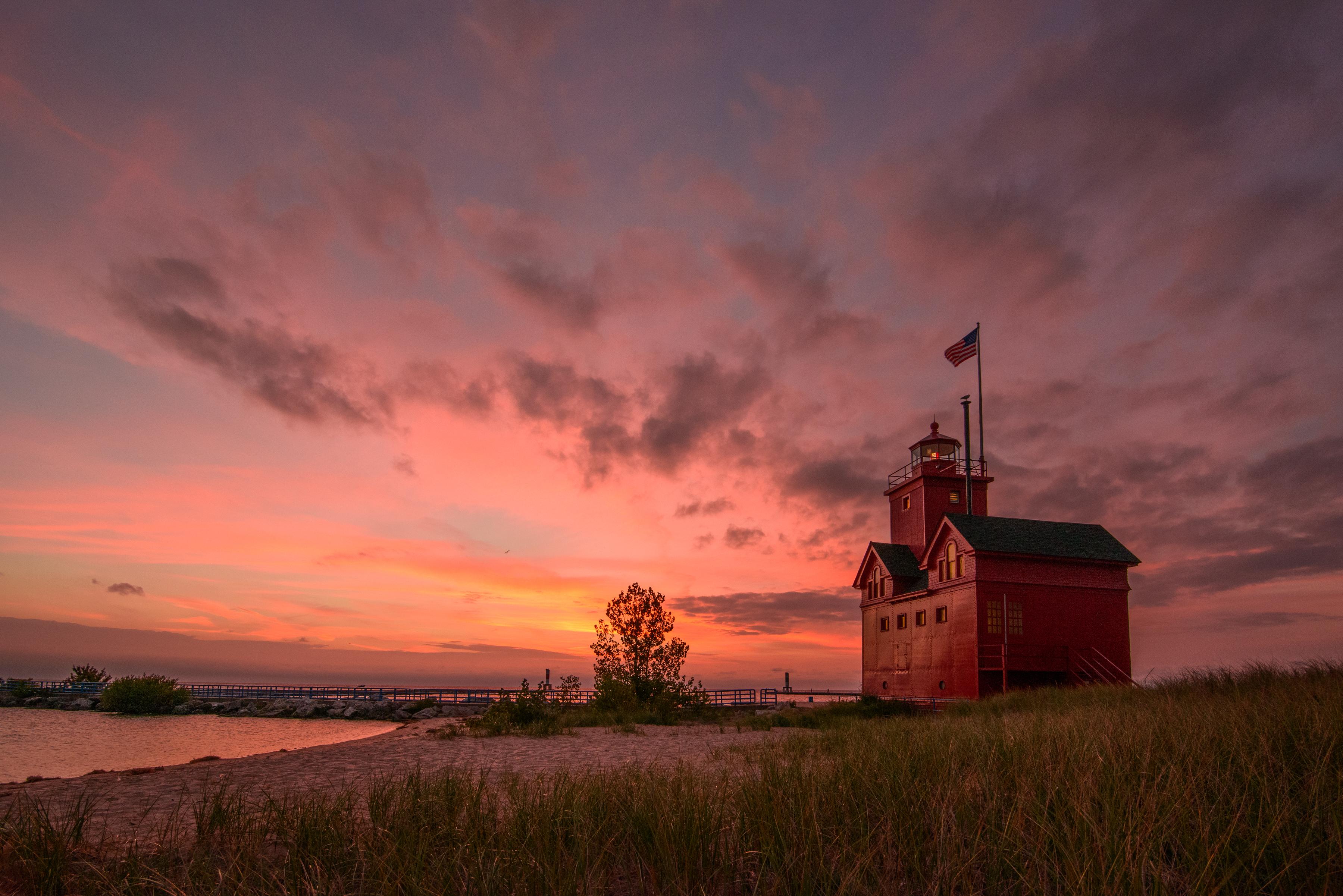 Holland Lighthouse Sunset-146