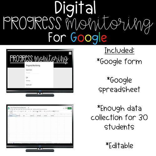 Digital Progress Monitoring for Google Sheets
