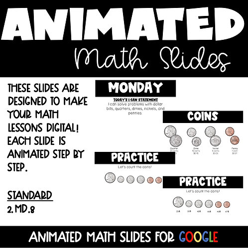 Money Animated Math Lessons for 2nd Grade