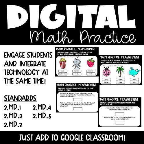 Measurement Digital Math Practice 2nd Grade