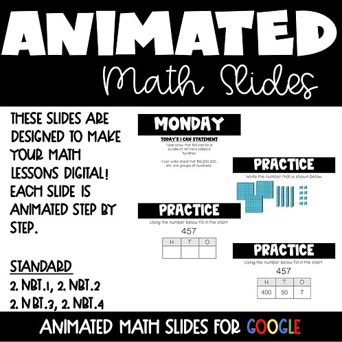 Place Value Animated Math Lessons