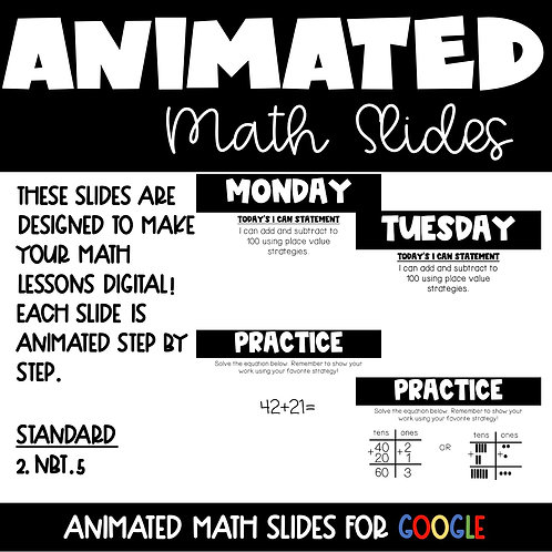 Addition Animated Lessons