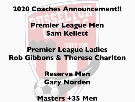 Coaches and Pre-Season Training - 2020!