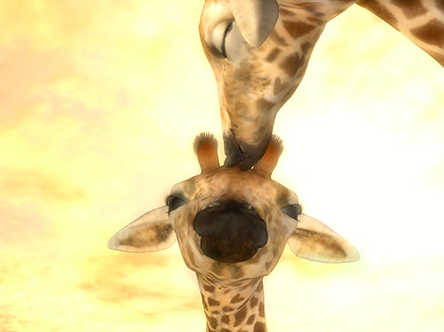 Baby Giraffe Goodnight Kiss