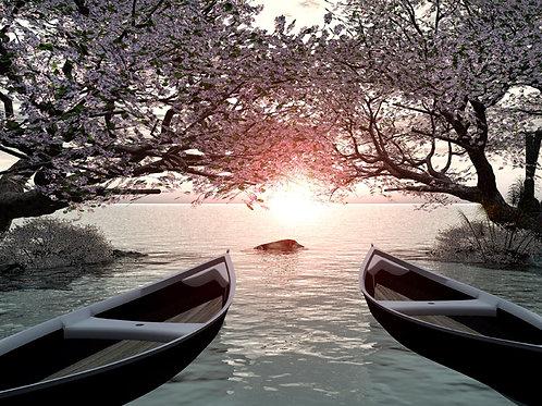 Boats and a Small Island Fantasy