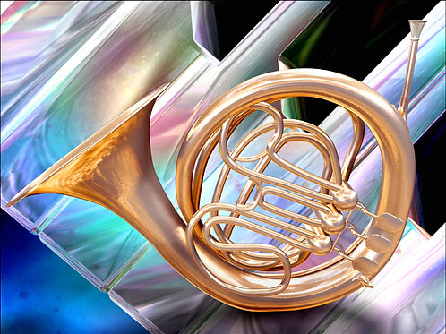 Colorful French Horn