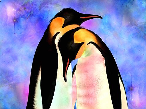 Snuggling Penguins