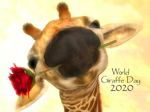 World Giraffe Day 2020 - Artist Proof - Limited Edition of 21 in all sizes.