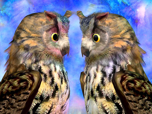 Eagle Owls in Love
