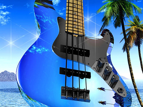 Bass Guitar in the Islands