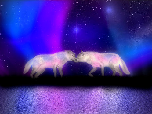 Wolves in the Aurora Borealis