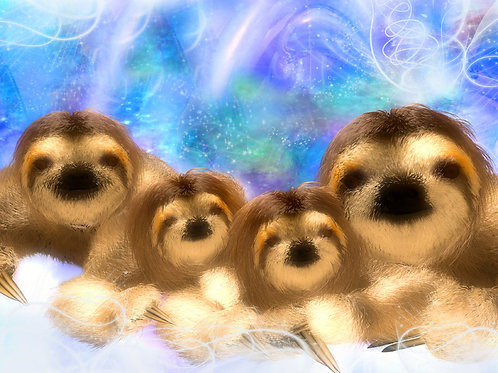 Sloth Family in Harmony