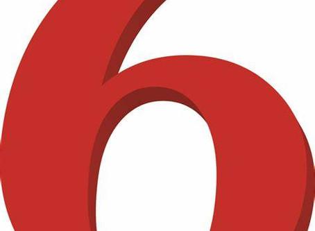 تقليب الرقم 6 على وجوهه اللغوية وتجلياته الشكليه