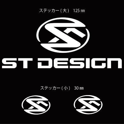 STデザインステッカー 白 (大1枚/小2枚)