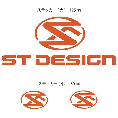 STデザインステッカー オレンジ (大1枚/小2枚)
