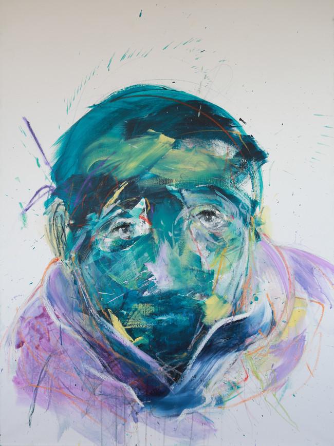 Blue Portrait   130x97 cm