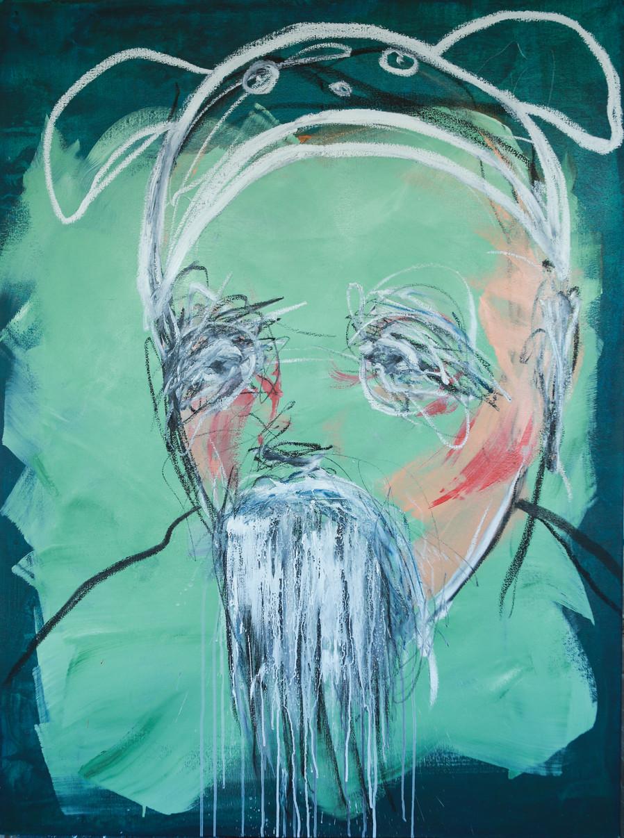 Portrait with a Hat  130x97 cm