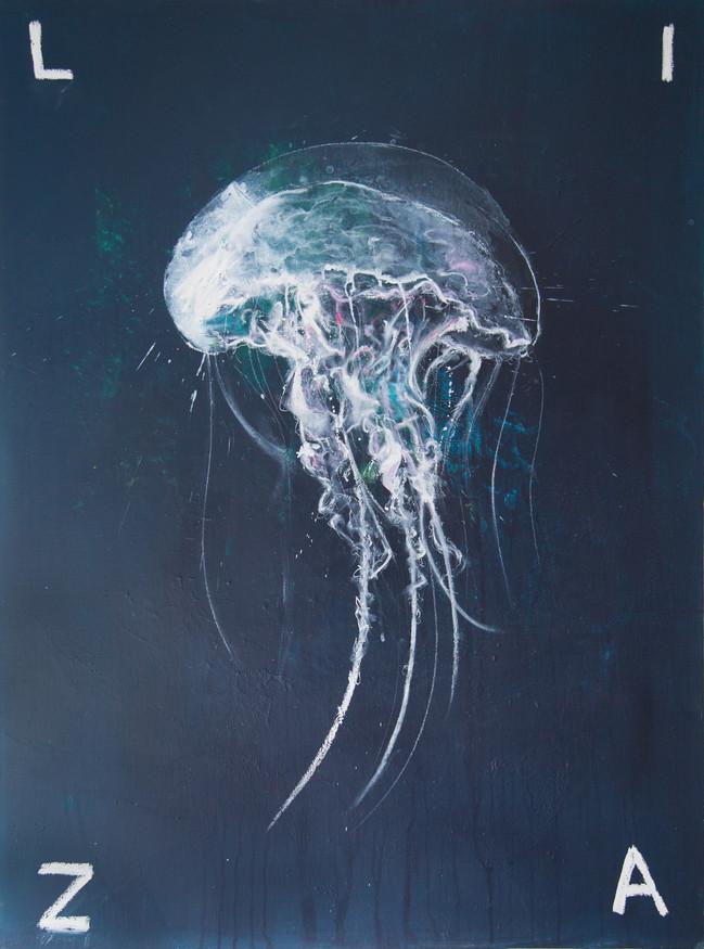 Jellyfish    130x97 cm
