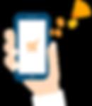 desenho de uma mão segurando um smarthphone
