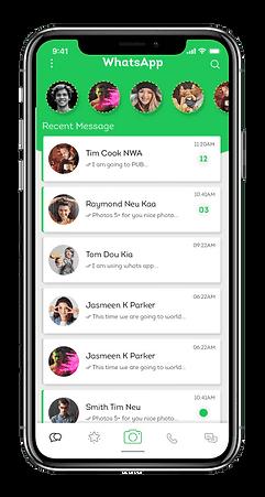 whatsapp-mobile cor verde e branco