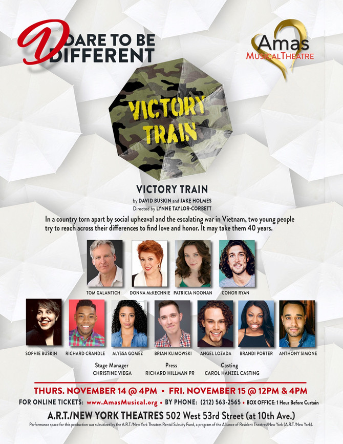 Amas Musical Theatre Presents VICTORY TRAIN As Part Of The 'Dare To Be Different' Series