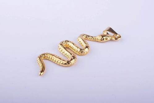 Pingente Orixá Cobra Dourado
