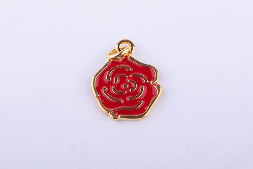 Pingente Rosa Pequeno Dourado PI6238