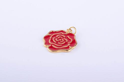 Pingente Rosa Dourado PI6237