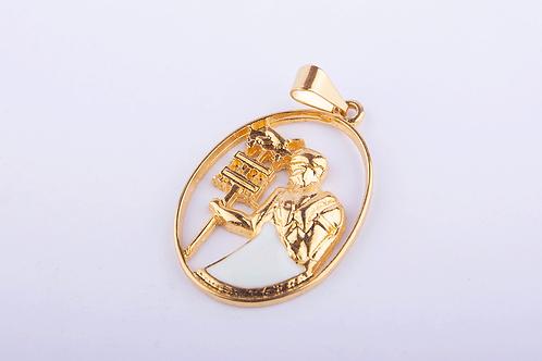 Pingente Oxalá Grande Dourado PI6318