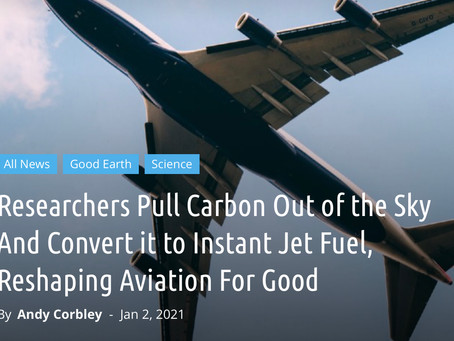 Researchers Pull Carbon Out of the Sky And Convert it to Instant Jet Fuel