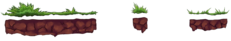 Grassy Platform Sprites