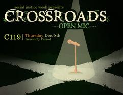 Crossroads Open Mic Poster