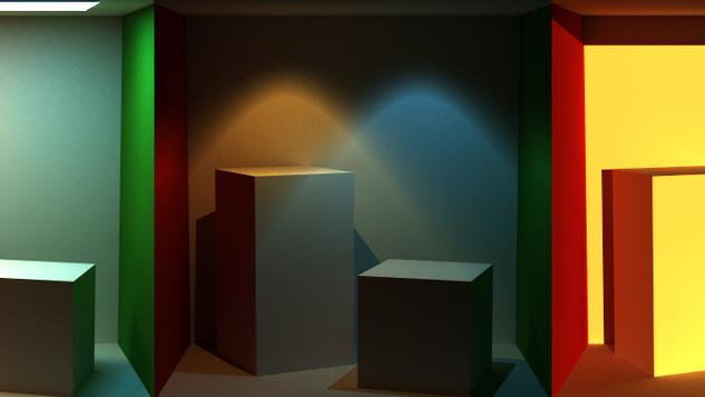 Cornell Box in Three Lights