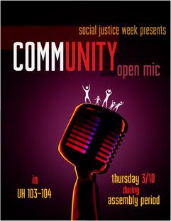 Community Open Mic Poster