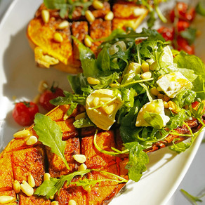 Roasted Butternut Squash with Goats Cheese & Rocket