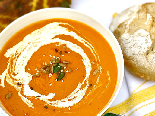 Roasted Butternut Squash & Pepper Soup
