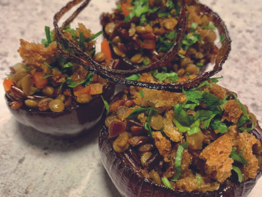 Stuffed Roasted Red Onions