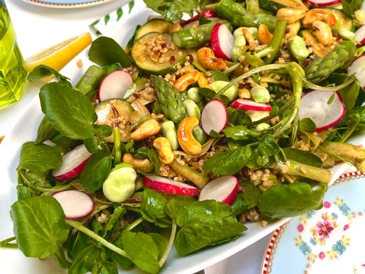 Spiced Asparagus and Wholewheat Salad