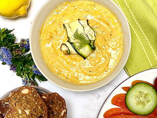 Turmeric Spiced BBQ or Baked Courgette Dip