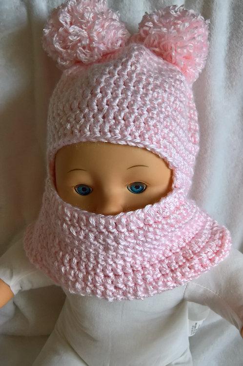 Baby ski mask hat pink