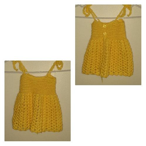Crochet baby tie up tank top